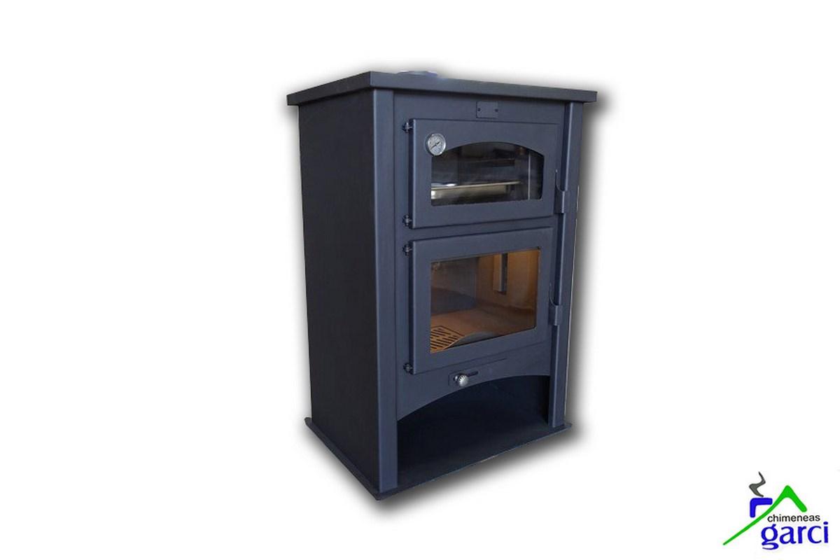 Estufa de le a con horno modelo baza - Modelos de estufas de lena ...
