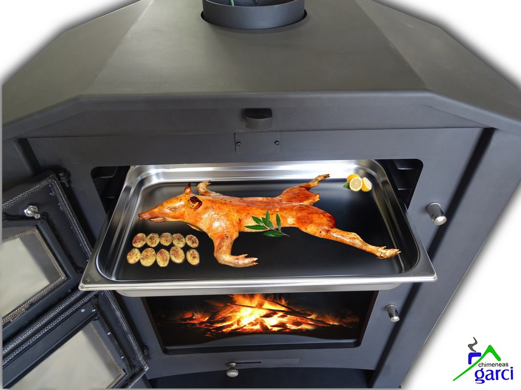 Estufa de le a con horno modelo oviedo - Estufas con horno de lena ...